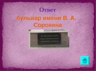 бульвар имени В. А. Сорокина