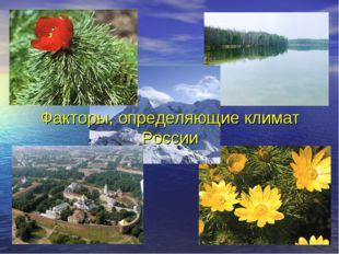 Факторы, определяющие климат России