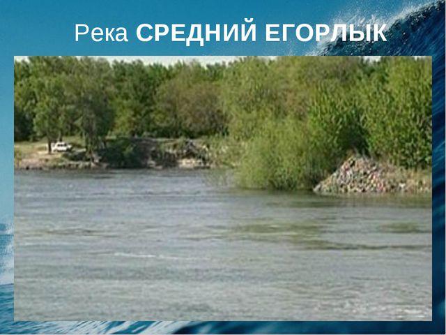 Река СРЕДНИЙ ЕГОРЛЫК