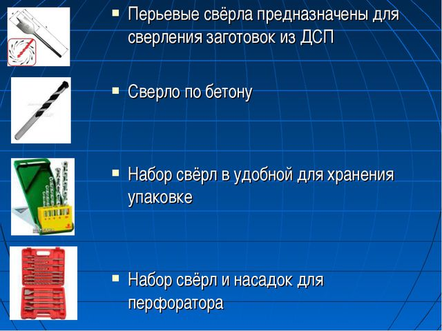 Перьевые свёрла предназначены для сверления заготовок из ДСП Сверло по бетону...