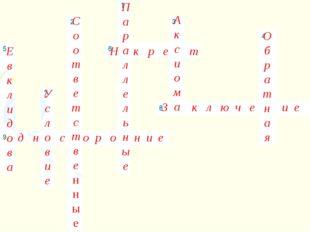 Е в к л и д о в а П а р а л л е л ь н ы е С о о т в е т с т в е н н ы е А к с