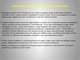Интерпретация сказки про даму Анастасию Примерно в возрасте 8 лет Владислав с