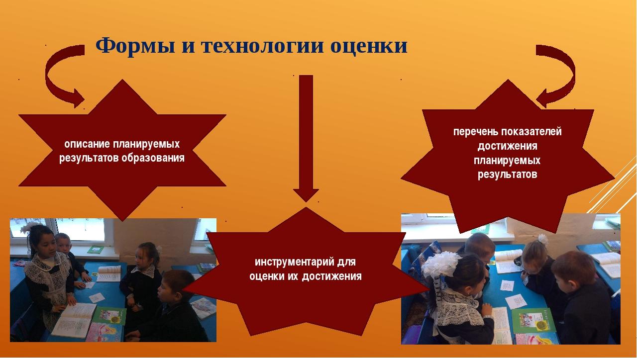 Формы и технологии оценки описание планируемых результатов образования перече...