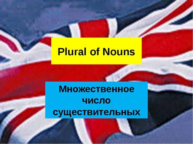 Plural of Nouns Множественное число существительных