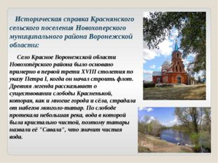 Историческая справка Краснянского сельского поселения Новохоперского муницип