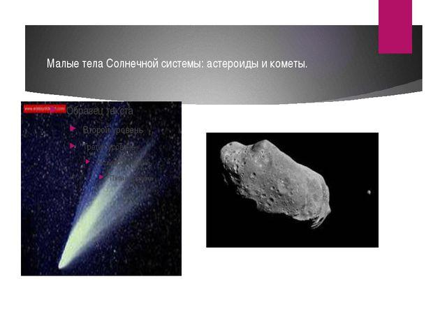 Малые тела Солнечной системы: астероиды и кометы.