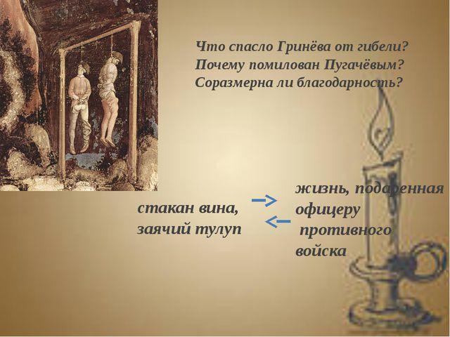 Что спасло Гринёва от гибели? Почему помилован Пугачёвым? Соразмерна ли благо...