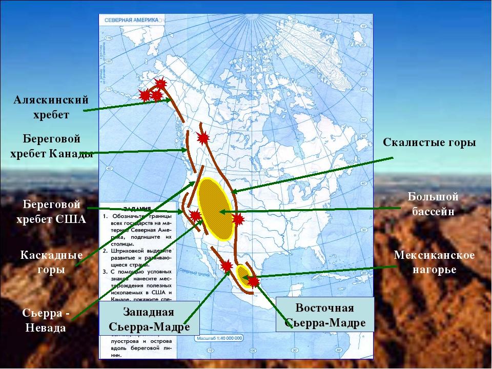 Аляскинский хребет Береговой хребет Канады Береговой хребет США Каскадные гор...