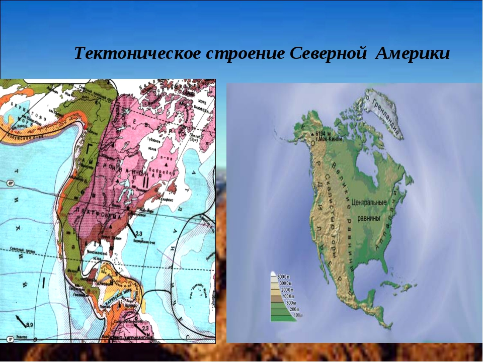 Тектоническое строение Северной Америки