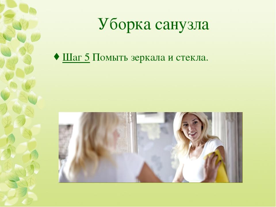 Уборка санузла Шаг 5Помыть зеркала и стекла.