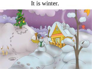 It is winter.