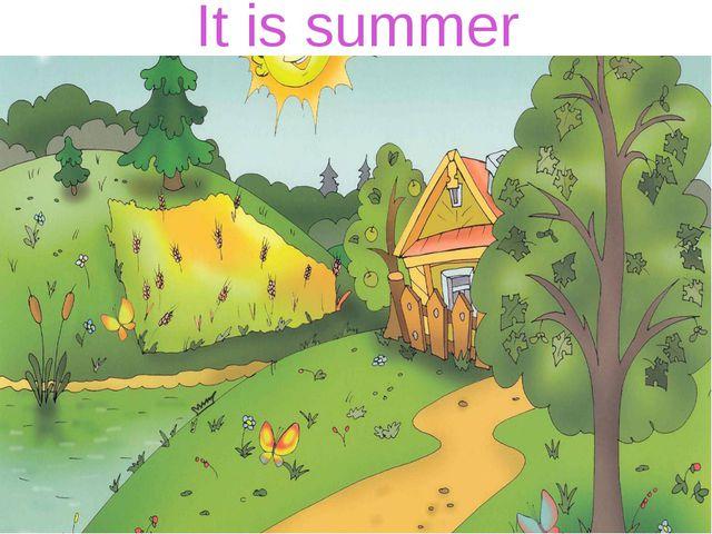 It is summer