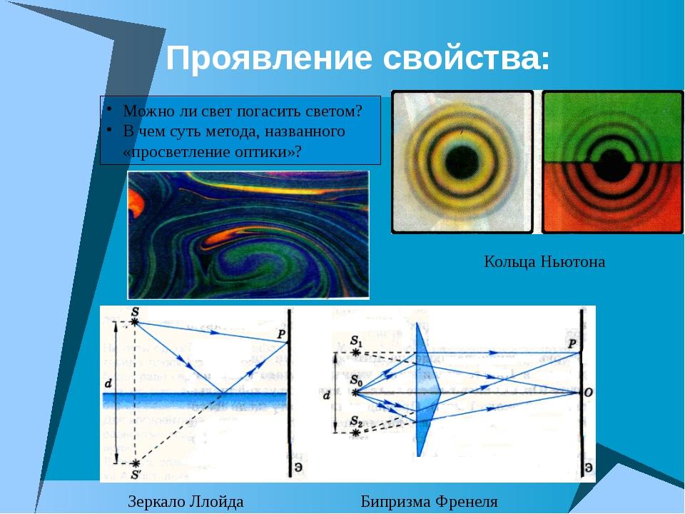 Проявление свойства: Можно ли свет погасить светом? В чем суть метода, назван...