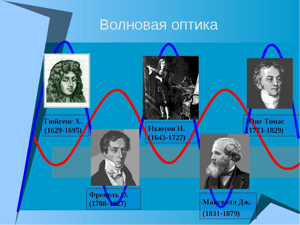 Френель О. (1788-1827) Юнг Томас (1773-1829) Ньютон И. (1643-1727) Волновая...