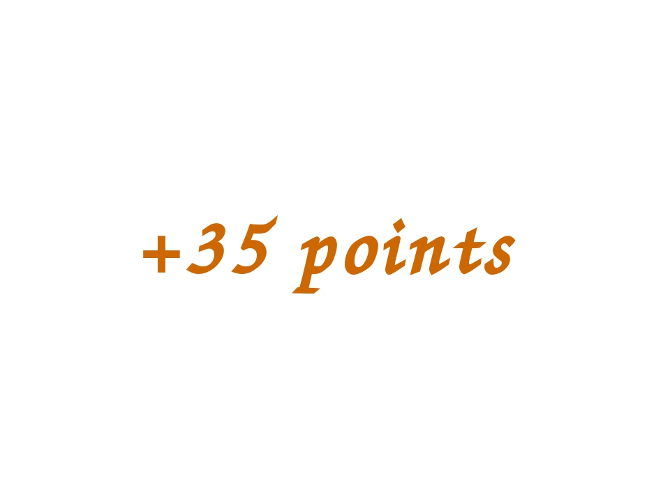 +35 points