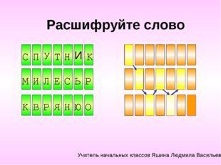 Расшифруйте слово Н И Ь Е Р У И C П Т Н К М И Л Е С Ь Р К В Р Я Н Ю О Учитель