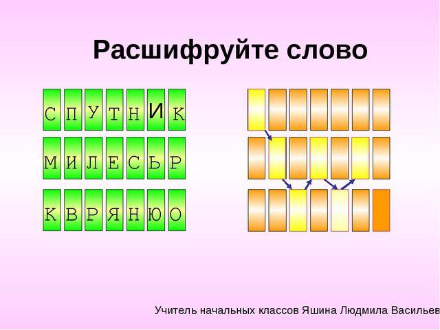 Расшифруйте слово Н И Ь Е Р У И C П Т Н К М И Л Е С Ь Р К В Р Я Н Ю О Учитель...