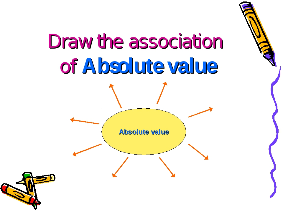 Draw the association of Absolute value Absolute value