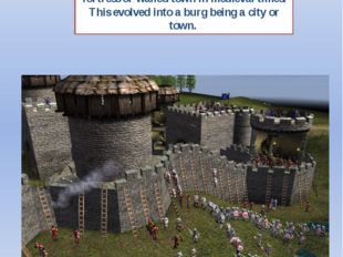"2. If a town name ends in ""-burg"" it was probably founded as a what? Burg was"