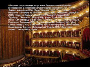 За время существования театра здесь было поставлено более 800 произведений. В