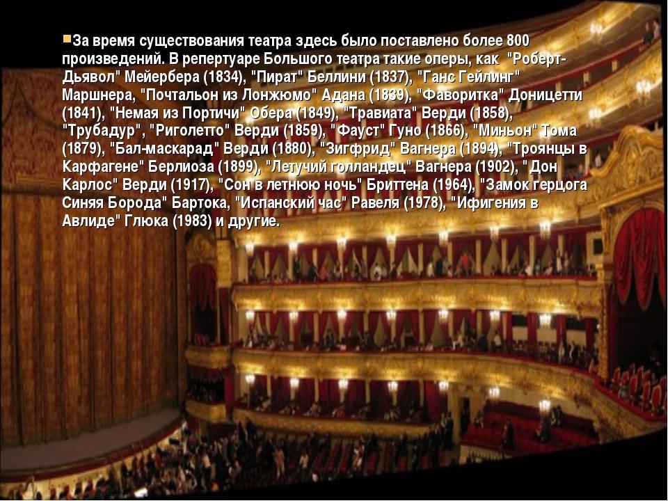За время существования театра здесь было поставлено более 800 произведений. В...