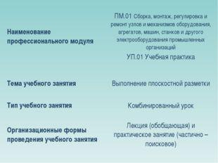 Наименование профессионального модуляПМ.01 Сборка, монтаж, регулировка и рем