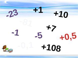 -5 -81 -0,1 -23 -1 +10 +7 +0,5 +108 +1