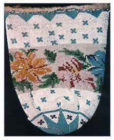 оплетённая бисером сумочка, 1800 год, Чехия