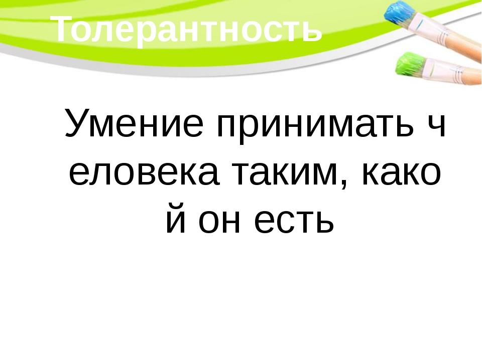 Толерантность Умение принимать человека таким, какой он есть PowerPoint Templ...