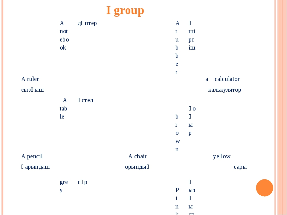 I group Anotebook дәптер A rubber Өшіргіш A ruler a calculator сызғыш калькул...