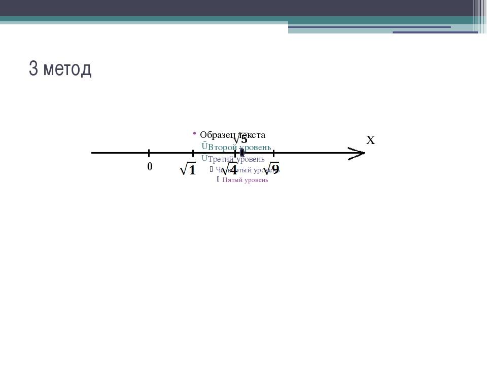 3 метод X 0