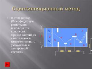 В этом методе (Резерфорда) для регистрации используются кристаллы. Прибор сос