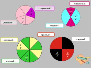 - сиреневый розовый - зеленый - желтый - - малиновый голубой - - черный красн