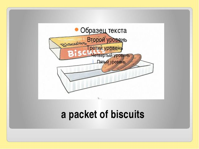 a packet of biscuits