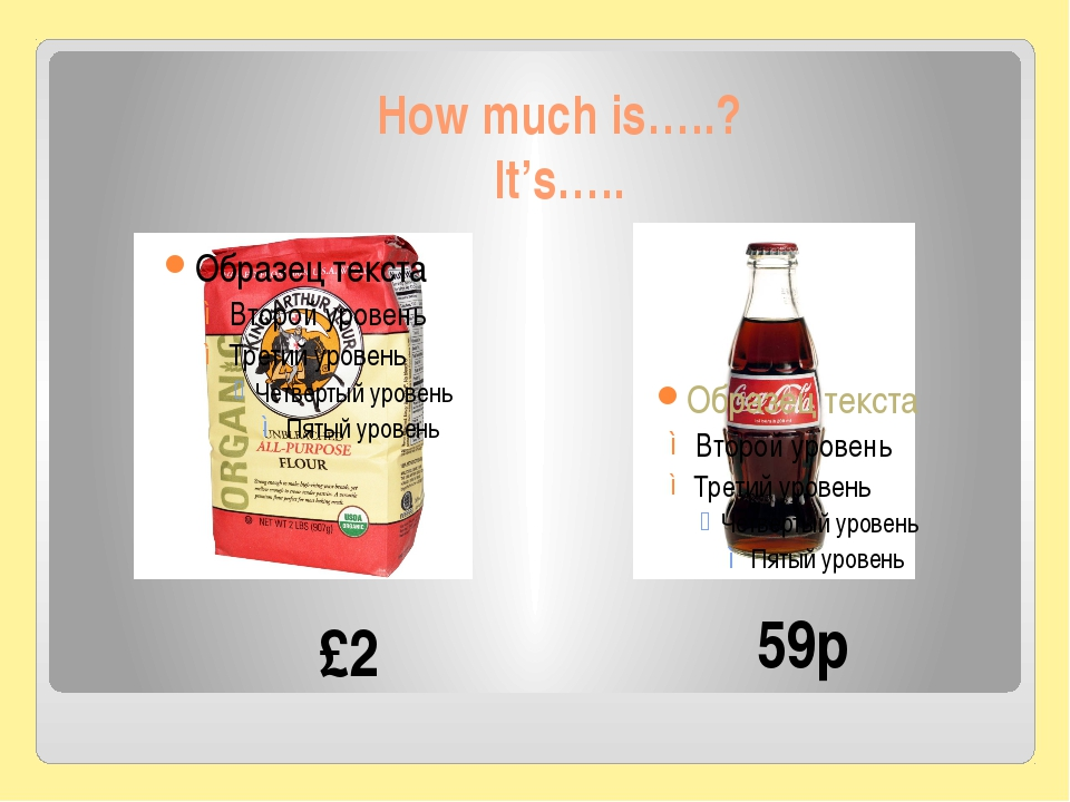 How much is…..? It's….. 59p £2