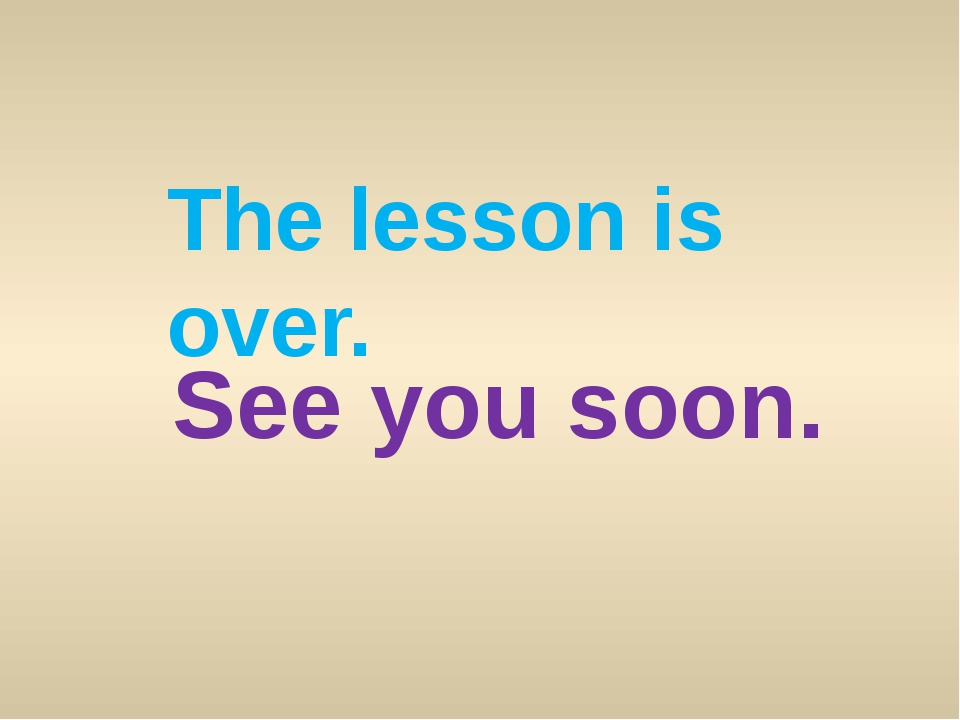 The lesson is over. See you soon.