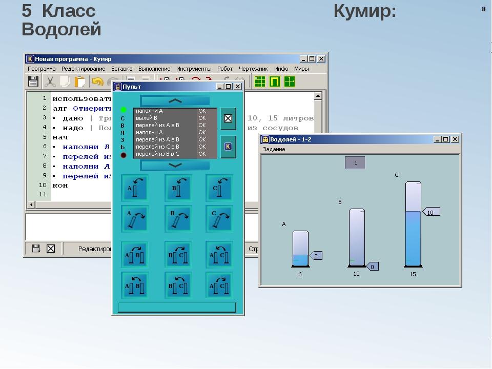 5 Класс Кумир: Водолей * Практикумы с автоматической проверкой решений в сред...