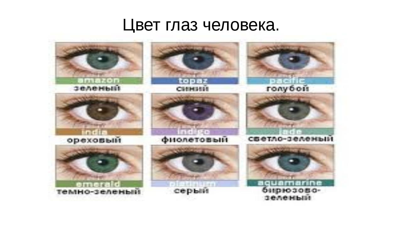 Цвет глаз человека.