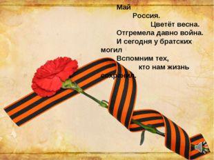 Май Россия. Цветёт весна. Отгремела давно война. И сегодня у братских могил
