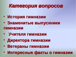 Категория вопросов История гимназии Знаменитые выпускники гимназии Учителя ги