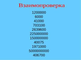 1200000 6000 41000 703100 2639600 225000000 150000000 40075 1971000 500000000