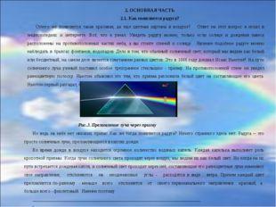 2. ОСНОВНАЯ ЧАСТЬ 2.1. Как появляется радуга? Отчего же появляется такая крас
