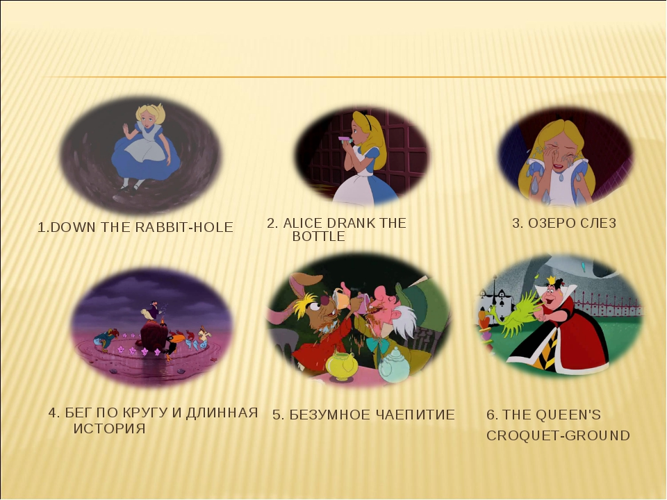 6. THE QUEEN'S CROQUET-GROUND 1.DOWN THE RABBIT-HOLE 2. ALICE DRANK THE BOTTL...