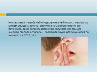 Ухо человека – необычайно чувствительный орган, поэтому мы можем слышать звук