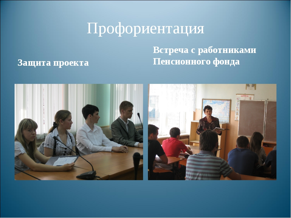 Профориентация Защита проекта Встреча с работниками Пенсионного фонда