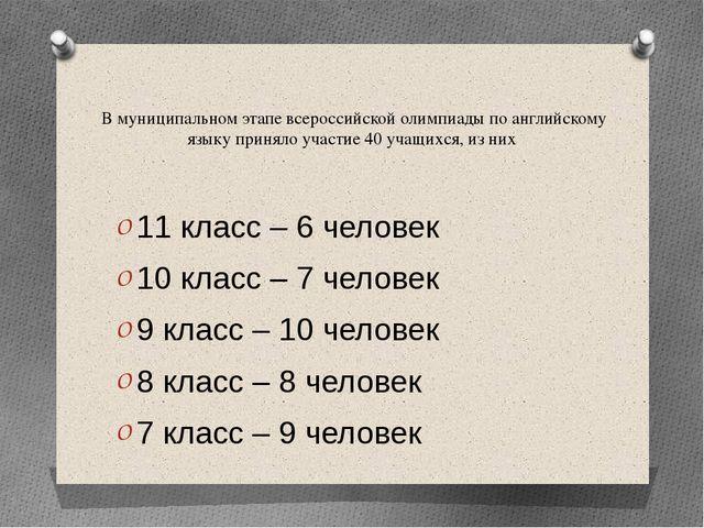 В муниципальном этапе всероссийской олимпиады по английскому языку приняло уч...
