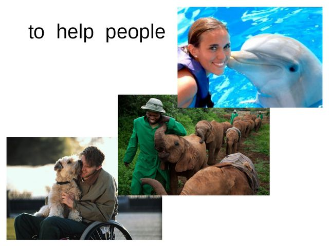 to help people
