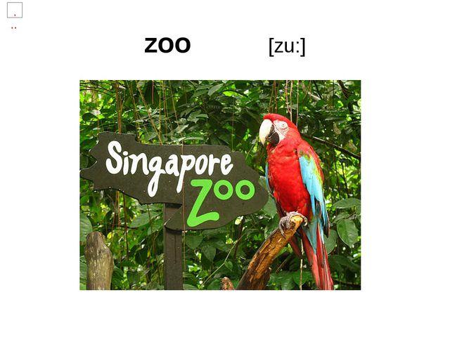 zoo [zu:]