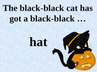 The black-black cat has got a black-black … hat