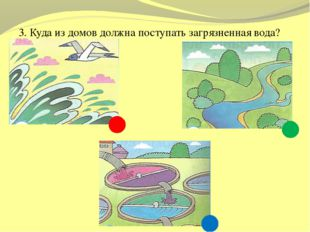 3. Куда из домов должна поступать загрязненная вода?